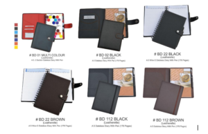 Multi Color Leatherette Notebooks 176 Pages