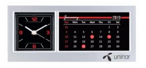 Plastic Calendar with Clock