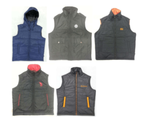 Sleeveless jackets with padding