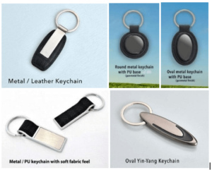 Metal and Leather Keychains