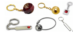 Cricket Ball and Bat as Key Chain
