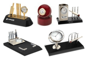 Cricket Table Top Gifts with Clocks, Pen Stand, Memos