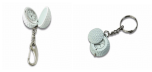 Golf Ball with Clock as Keychain