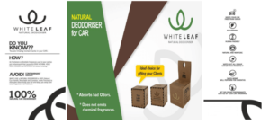 Natural Deodoriser For Car White Leaf
