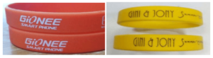 Customised Color Wristbands With Brand Massages