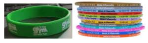 Customised Logo Imprinted Color Wristbands