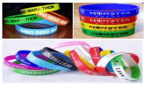 Silicone Wristband with Customised Logo