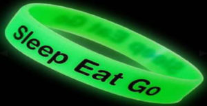 Fluorescent wristbands
