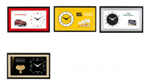 Rectangular wall clock for low ceilings