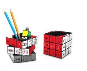 Rubiks Calendar Pen Stand