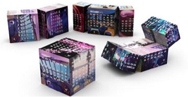 2018 Calendar: New Year Magnetic Magic Cube Calendars