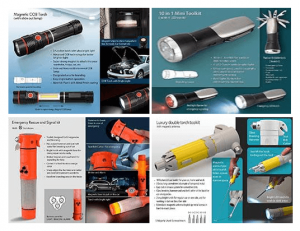 TORCH, TOOL KIT, EMERGENCY RESCUE AND SIGNAL KIT