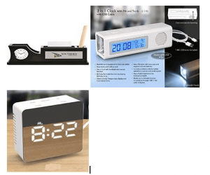 3in1 clock with FM and torch