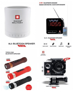 Bluetooth Speakers and Action Camera