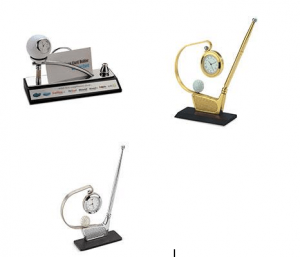 Brass table tops with golf concept