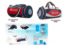 Gym bags with accessories