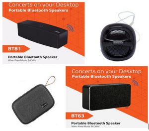 MRP 1499 for AMBRANE model BT-5000 Bluetooth Speaker