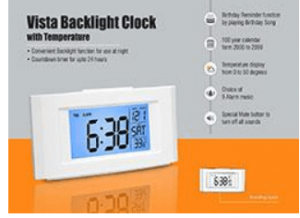 Desk top Clocks with FM and Torch as Corporate Gifts