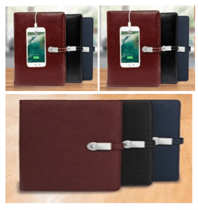 Leatherette Organiser With Charger