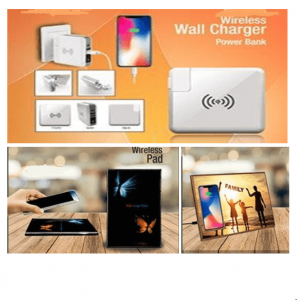 Wireless Wall Charger Wireless Pad and Wireless Photo Frames