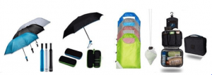 Umbrellas Folding Shopping Bag Travel Toiletry Pouch