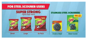 Super Strong Stainless Steel Scrub