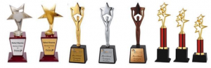 Bronze, Silver and Gold Star Trophies