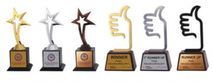 Star and Thumbs Up Trophies