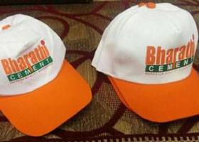 caps with company logo. Promotional ... c5a19fa32573