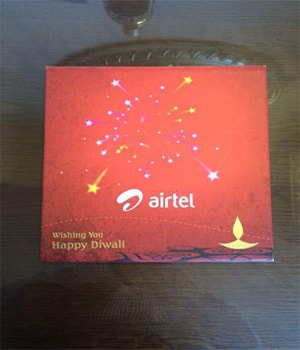 Airtel Promotional Diwali Chocolate Pack