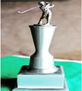 Aluminum Column with Golfer on Square Aluminum Base