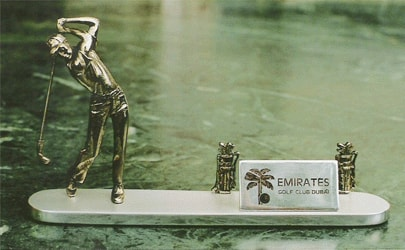 Business Card Holder with a Golfer