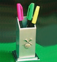 Golf Ball and Crossed Tees Pen Stand