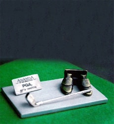 Golf Shoes Work Business Card Holder