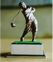 Golfer Gift 3 Square Base