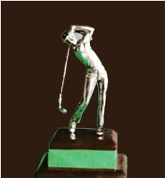 Golfer Table Top Gift Young Golfer Swing