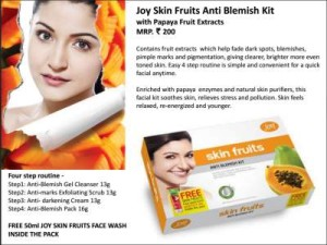 Joy Skin Fruits Anti Blemish Kit with Papaya Fruit
