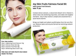 Joy Skin Fruits Fairness Facial Kit with Lemon Fruit