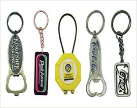 Promotional Keychains, Customized Leather, Acrylic, Plastic