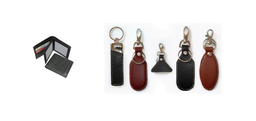 Leather Wallet and Keychains