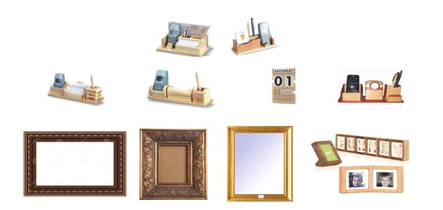 Wooden Table Tops and Photo Frames
