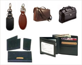 Leather Gift Bags Wallets Briefcase and Keychains