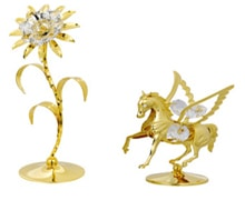 Golden Vintage Sun Flower and Fly Horse