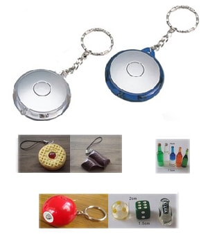 Led Button Keychains