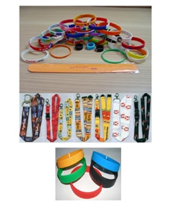 Silicone Wristbands Bracelets and Lanyards